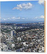 Sydney - Aerial View Panorama Wood Print