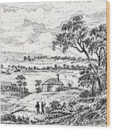 Sydney Cove, Australia, Circa 1790 Wood Print
