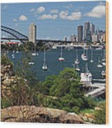 Sydney From Blues Point Wood Print