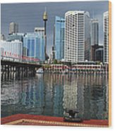 Sydney From Darling Harbour Wood Print