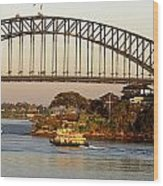 Sydney Harbour Bridge At Dawn Wood Print