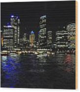 Sydney Harbour Skyline Wood Print by Jacques Van Niekerk