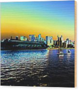 Sydney In Color Wood Print