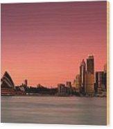 Sydney Skyline Wood Print
