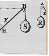Symbol Language Of Statics Wood Print