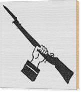 Symbol: Raised Gun Wood Print