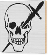 Symbol: Skull & Dagger Wood Print