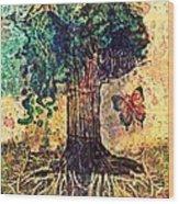 Symbolically Solid Tree Wood Print by Paulo Zerbato
