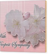 Sympathy - Cherry Blossoms Wood Print