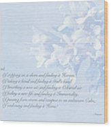 Sympathy Greeting Card - Hairy Bittercress Wildflower Wood Print