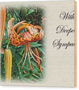 Sympathy Greeting Card - Wildflower Turk's Cap Lily Wood Print