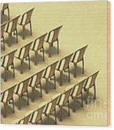 Symphony Wood Print by Vishakha Bhagat