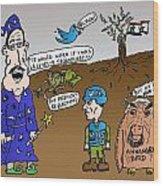 Syria Is Mordor Wood Print