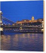 Szechenyi Bridge In Budapest Wood Print
