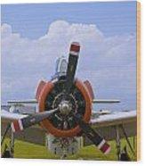 T-28 Nose Wood Print