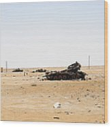 T-55 Tanks Destroyed By Nato Forces Wood Print