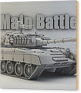 T-80 Main Battle Tank Wood Print