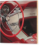 T-bird Interior Wood Print by Dennis Hedberg