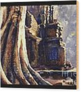 Ta Prohm Khmer Temple In Cambodia Wood Print