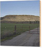 Table Rock Afternoon Wood Print