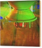 Table Topsy Turvy Wood Print by Randall Weidner