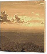 Taconic Sunset Wood Print