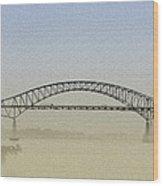 Tacony - Palmyra Bridge Wood Print