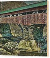 Taftsville Covered Brdidge Wood Print