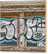 Tagged Window Wood Print