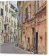 Taggia In Liguria Wood Print