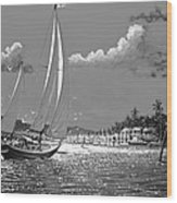 Tahitian Moon Wood Print by Joseph   Ruff
