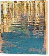Tahitian Reflection Wood Print