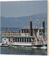 Tahoe Gal On Lake Tahoe Wood Print