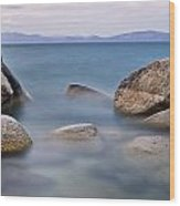 Tahoe Rocks Wood Print