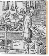 Tailors, 16th Century Wood Print