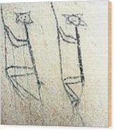 Taino Rock Climbers Wood Print by Ramon A Chalas-Soto