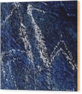 Taino Ying And Yang Wood Print by Ramon A Chalas-Soto
