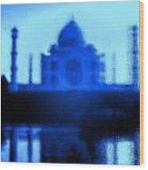 Taj Mahal Blues Wood Print