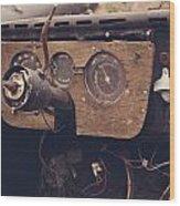 Take The Wheel Wood Print