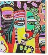Talavera Dancers Wood Print