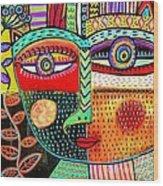 -talavera Owl Goddess Wood Print