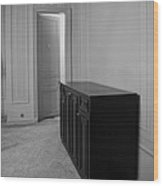 Tall Ceiling Door And Sideboard Wood Print