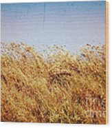 Tall Grass In The Wind Wood Print