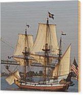 Tall Ship Four Wood Print