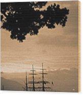 Tall Ship Gorch Fock Wood Print