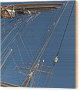 Tall Ship Rigging 1 Wood Print