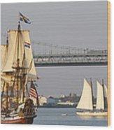 Tall Ship Six Wood Print