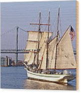 Tall Ship Three Wood Print