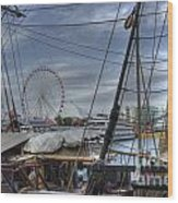 Tall Ships At Navy Pier Wood Print