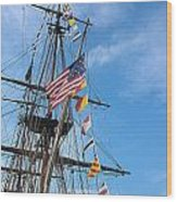 Tall Ships Banners Wood Print by David Bearden